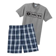 Eat Sleep Jeep Men's Shorts Sleep Set