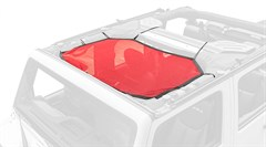 Eclipse Sun Shade w/Front Cover Wrangler JK 2007-2018 Red Rugged Ridge