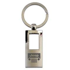 Chrome Jeep Rectangle Keychain