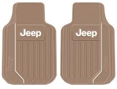Jeep Elite Series Universal Floor Mats in Tan by PlastiColor