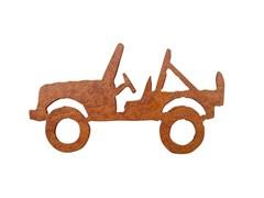 Rustic Metal Jeep Magnet