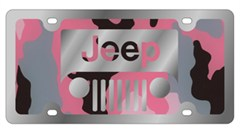 New Jeep Grill Pink Camouflage License Plate
