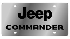 Stainless Steel Jeep Commander License Plate