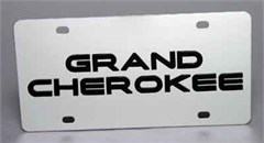 Jeep Grand Cherokee License Plate, Stainless Steel