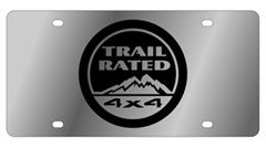 """Trail Rated 4x4"" License Plate, Stainless Steel"