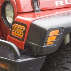 4 Piece Black Euro Guard Turn Signal Covers- Jeep Wrangler TJ/LJ