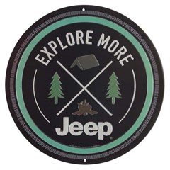 Explore More - Jeep Embossed Tin Sign