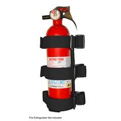 Fire Extinguisher Holder CJ Wrangler 1955-2018 Black Rugged Ridge