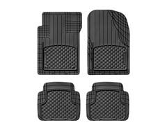 WeatherTech AVM Universal Floor Liner 4 Piece Set Black - Front & Rear