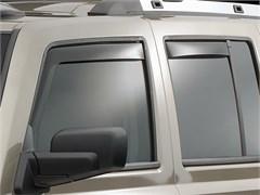 WeatherTech Rain Deflectors Commander 2006-2010 Dark Smoke - Front & Rear