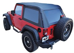 Frameless Sailcloth Soft Top w/ Tint Windows Wrangler JK 2D 2007-2017