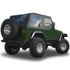 Blk Diamond Frameless Soft Top Kit w/Tint Windows YJ 1992-1995
