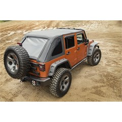 Frameless Top Wrangler JK 4D 2007-2018 Black Diamond Rugged Ridge