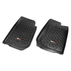 Front Floor Liners, Right-Hand Drive Jeep Wrangler 2007-2018 Black