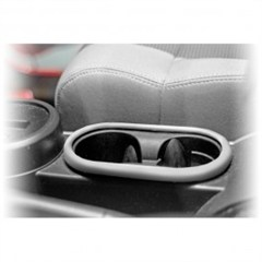 Front Cup Holder Accent for Jeep Wrangler JK (2007-2010), Silver