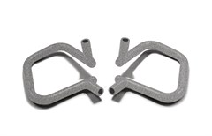 Front Rigid Grab Handle for Wrangler JK/JKU 2007-2018 in Gray Hammertone by Steinjager