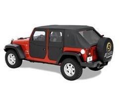 Full Soft Doors Jeep Wrangler JK 2007-2018 Front Black Diamond Bestop