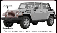 Paint Protection Film Kit, Jeep JK (2007-2017)