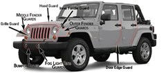 Husky Shield Door Edge Guards for Jeep Vehicles