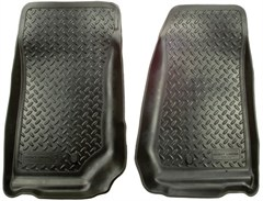 Classic Style Floor Liners for Jeep Wrangler 4D 2011-2013 Black - Front