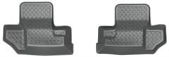 Husky Rear Floor Liners in Gray, 2 door Jeep JK (2011-2013)