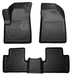Husky Front & Rear Floor Liners for Jeep 2014-2015 Cherokee - Black