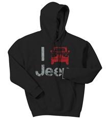 """""""I Jeep"""" Hooded Sweatshirt, Black"""