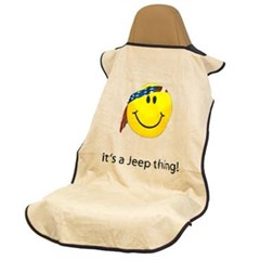 Jeep Seat Towel with Smiley Face - It's a Jeep Thing