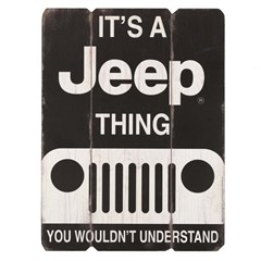 It's a Jeep Thing Wooden Wall Art