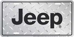Jeep Aluminum Diamond Plate License Plate