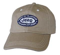 Jeep Contrast Stitch Hat, Khaki