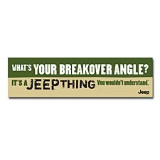"""It's a Jeep Thing"" Bumper Sticker"