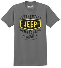 Jeep Authentic Motors Men's T-shirt in Dark Charcoal