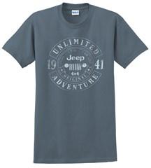 Jeep Banner Circle Men's T-Shirt in Indigo Blue