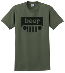 Beer Jeep Logo Men's T-Shirt