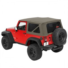 Supertop NX Complete Soft Top- 2 Door Jeep JK (2007-2014), Khaki