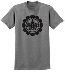 Jeep Big Cog Mens T-Shirt in Grey