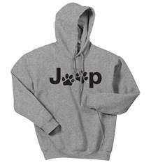 Jeep Black Dog Paw Hooded Sweatshirt