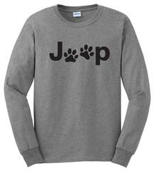 Jeep Black Dog Paw Long Sleeve T-Shirt