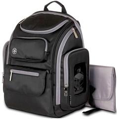 Jeep Backpack Diaper Bag, Black/Gray