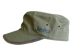 Jeep Cadet Hat, Army Green with Brown Accents