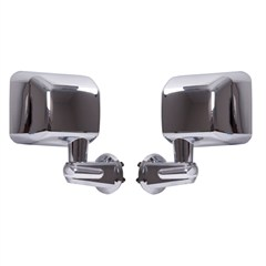 Mirror Set for Jeep Wrangler JK 2007-2017 in Chrome by Rugged Ridge