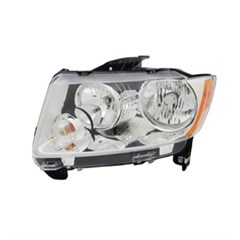 Left Headlight Assembly for Jeep Compass 2011-2014 by Omix-Ada