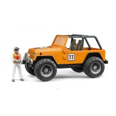 Jeep Cross Country Racer with Driver in Orange