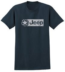 Distressed Jeep Logo Men's T-Shirt Blue Dusk