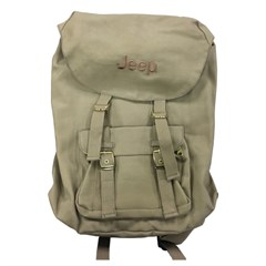 Jeep Embroidered Canvas Voyager Backpack, Khaki