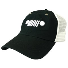 Jeep Embroidered Grille Logo Mesh Hat