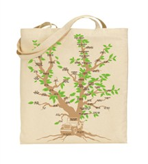 Family Tree Cotton Canvas Tote Bag, by All Things Jeep