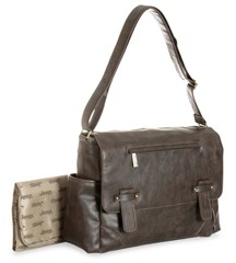 Jeep Faux Leather Messenger Diaper Bag