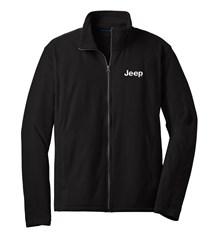 Jeep Embroidered Fleece Full Zip Jacket, Black